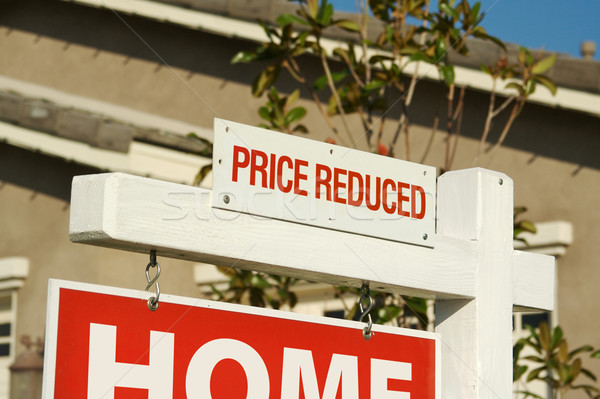 Price Reduced Real Estate Sign & New Home Stock photo © feverpitch