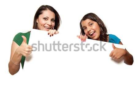 かなり ヒスパニック 少女 母親 ボード ストックフォト © feverpitch