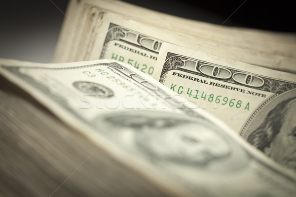 Abstract of One Hundred Dollar Bills Stock photo © feverpitch
