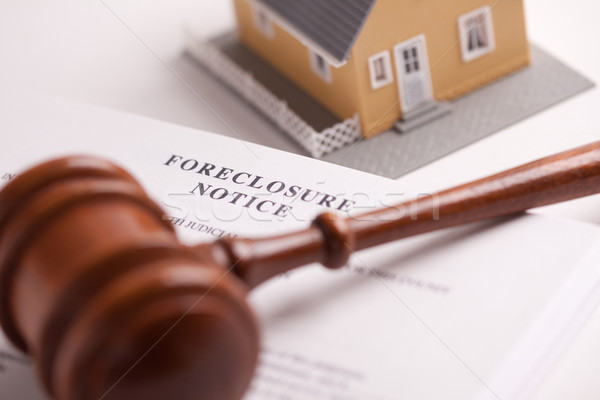 Foreclosure Notice, Gavel and Home Stock photo © feverpitch