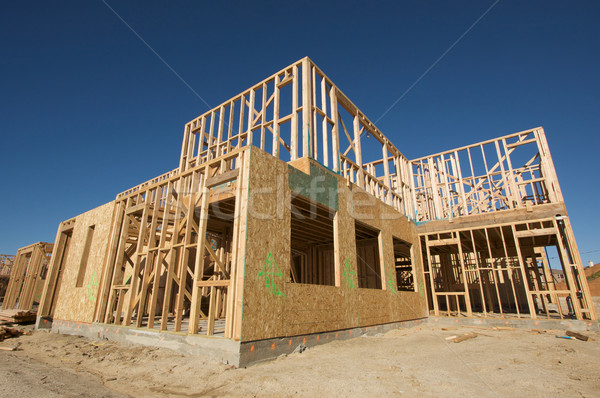 Construction Home Framing Abstract Stock photo © feverpitch