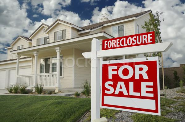 Zálogjog érvényesítése otthon vásár ingatlan felirat ház Stock fotó © feverpitch