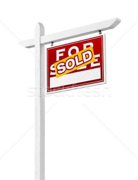 право проданный продажи недвижимости знак Сток-фото © feverpitch