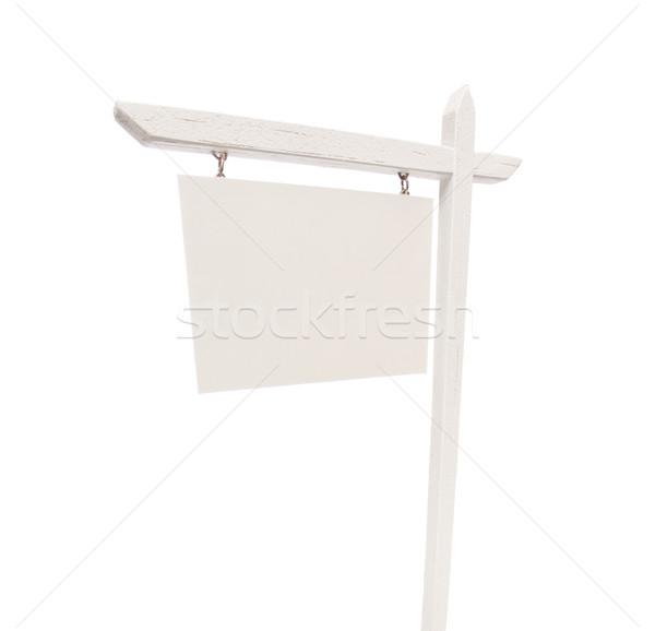 Stock fotó: Ingatlan · felirat · fehér · izolált · siker · óriásplakát