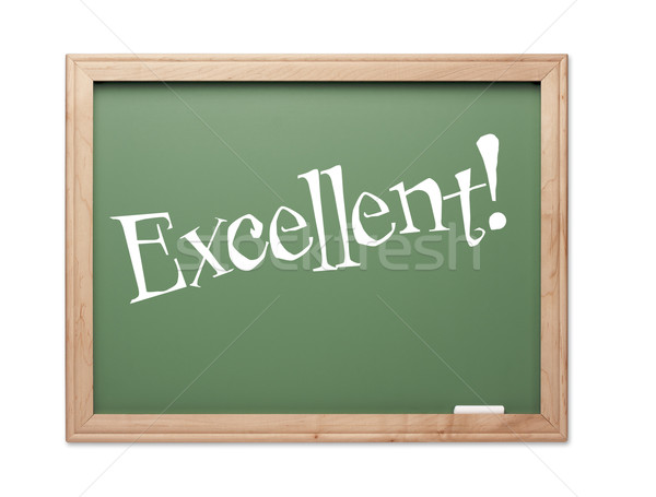 Excellent! Green Chalk Board Kudos Series Stock photo © feverpitch