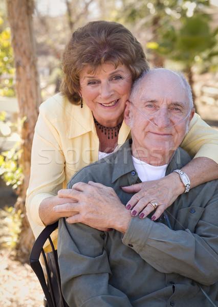 Idős nő férfi visel oxigén csövek Stock fotó © feverpitch