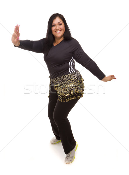 Stockfoto: Aantrekkelijk · latino · vrouw · dansen · zumba · witte