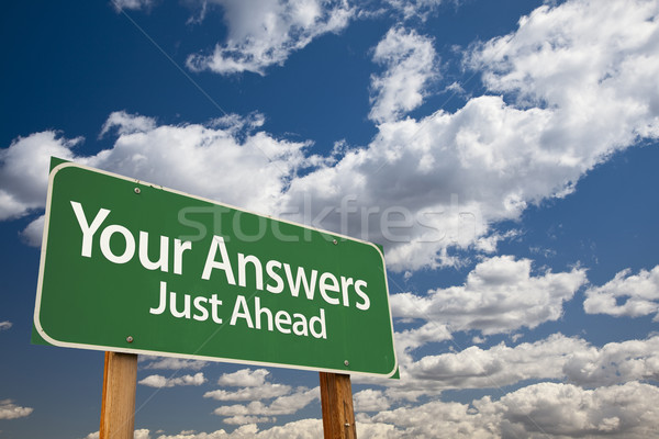 Your Answers Green Road Sign Stock photo © feverpitch