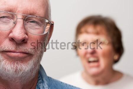 Pareja de ancianos blanco aislado hombre Pareja ancianos Foto stock © feverpitch