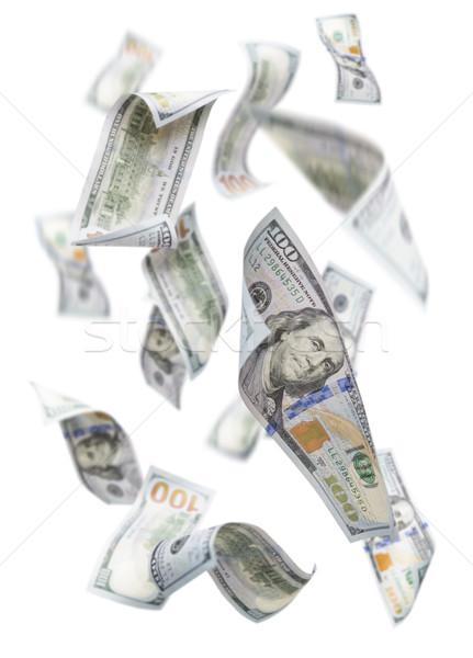 Vallen 100 witte geïsoleerd Stockfoto © feverpitch