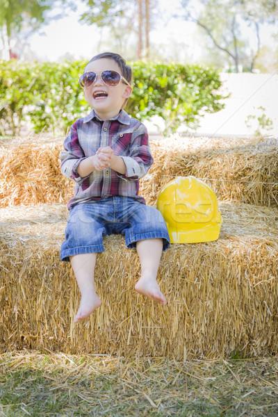 Сток-фото: молодые · мальчика · смеясь · Солнцезащитные · очки