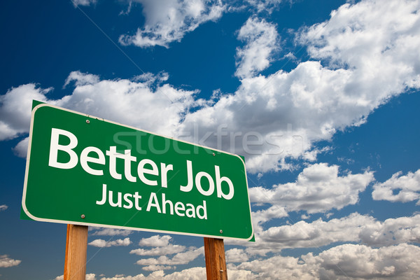 Stock photo: Better Job Green Road Sign