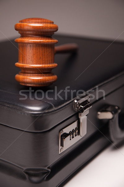 Gavel and Black Briefcase Stock photo © feverpitch
