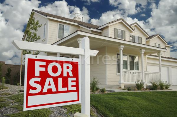 Casa venda assinar nova casa belo porta Foto stock © feverpitch