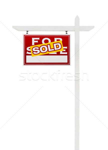 Uitverkocht verkoop onroerend teken geïsoleerd Stockfoto © feverpitch