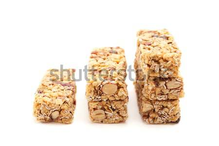 Stacked Granola Bars Isolated on White Stock photo © feverpitch