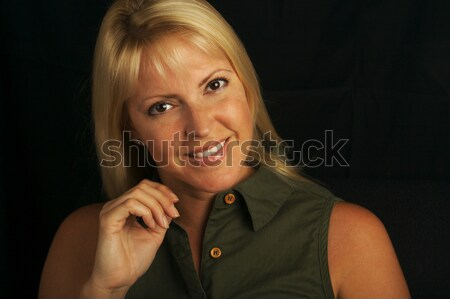 Attractive Blond Haired, Brown Eyed Woman Stock photo © feverpitch