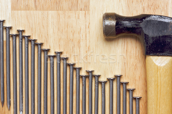 Hammer and Nails Abstract Stock photo © feverpitch