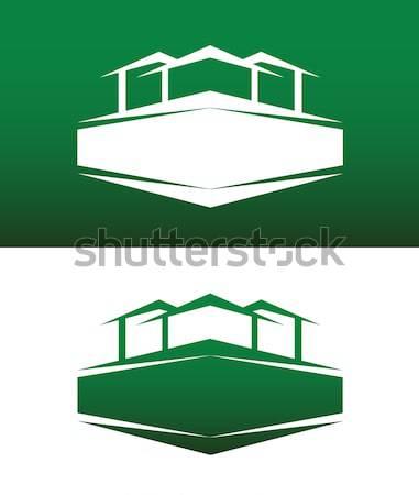 Abstract casa icona vettore solido entrambi Foto d'archivio © feverpitch