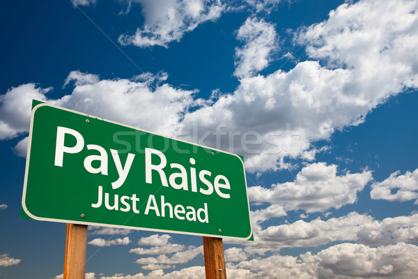 Pay Raise Green Road Sign Stock photo © feverpitch