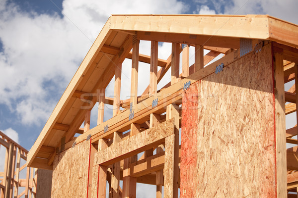 Stock photo: Abstract Home Construction Site