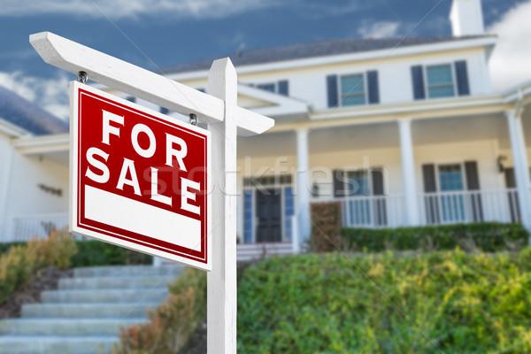 Foto d'archivio: Vendita · immobiliari · segno · casa · home