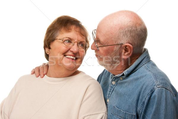 Affectionate Senior Couple Portrait Stock photo © feverpitch