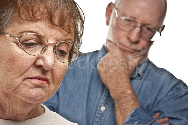 Pareja de ancianos argumento enojado terrible hombre Pareja Foto stock © feverpitch