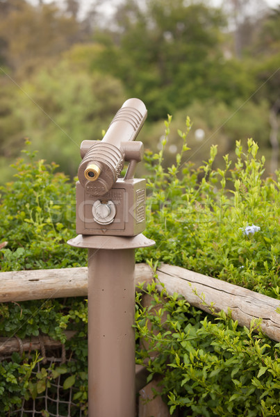 Public Coin Operated Telescope at Wilderness Overlook Stock photo © feverpitch
