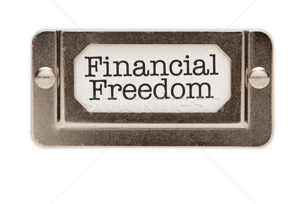 Financial Freedom File Drawer Label Stock photo © feverpitch