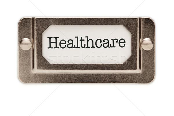 ストックフォト: 医療 · ファイル · ラベル · 孤立した · 白
