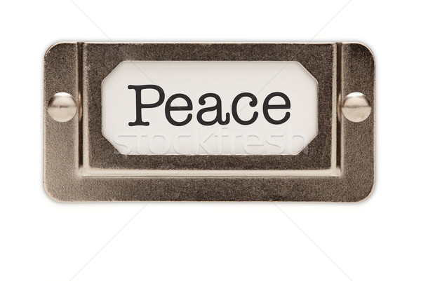 Peace File Drawer Label Stock photo © feverpitch