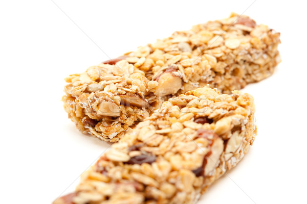 Two Granola Bars Isolated on White Stock photo © feverpitch