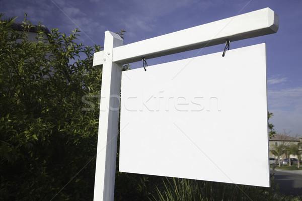 Immobilier signe prêt propre un message Photo stock © feverpitch