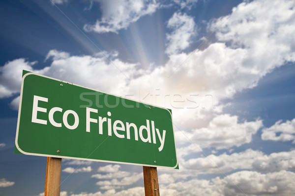 Eco Friendly Green Road Sign Stock photo © feverpitch
