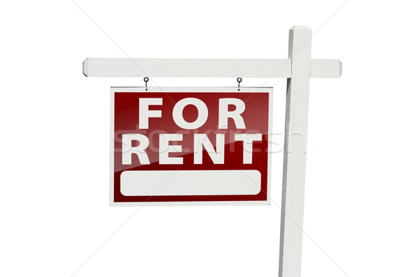 For Rent Real Estate Sign on White Stock photo © feverpitch