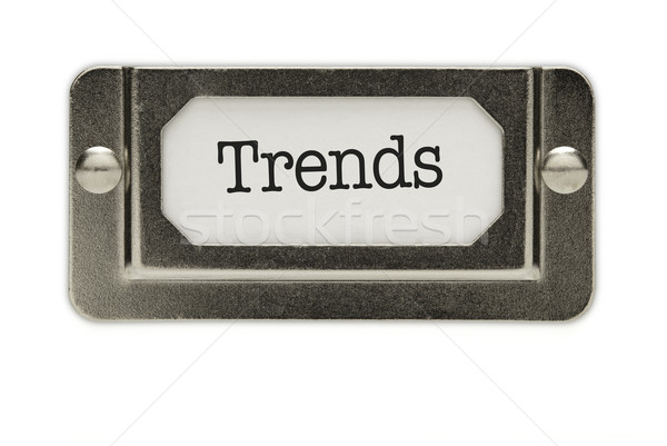 Trends File Drawer Label Stock photo © feverpitch