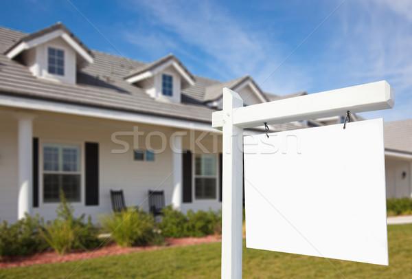 Photo stock: Immobilier · signe · maison · nouvelle · maison · maison · porte