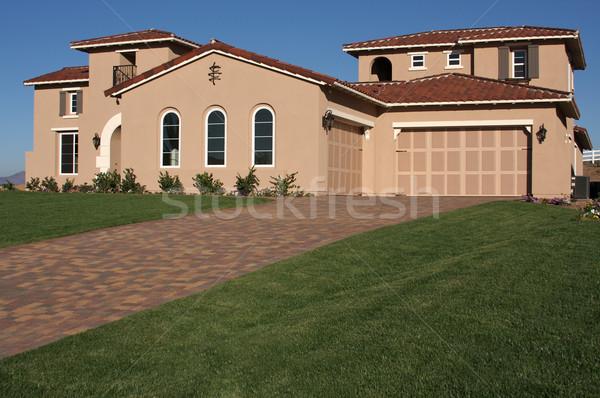 Stock photo: Modern Home in Rural Setting.