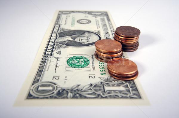 доллара один законопроект небольшой Top белый Сток-фото © feverpitch