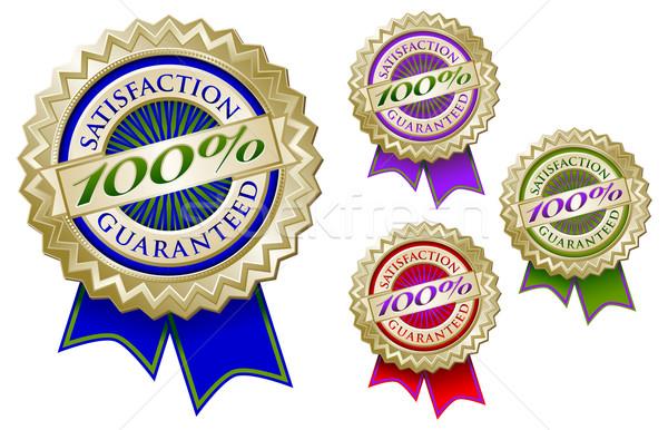 Quatre coloré 100 satisfaction garantir Photo stock © feverpitch
