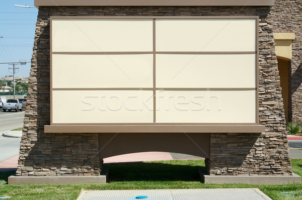 Blank Community Shopping Center Sign Stock photo © feverpitch