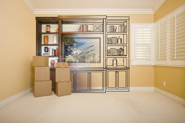 комнату развлечения блок рисунок фотография Сток-фото © feverpitch