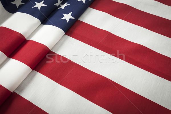 Bandeira americana abstrato dobrado estrelas azul bandeira Foto stock © feverpitch