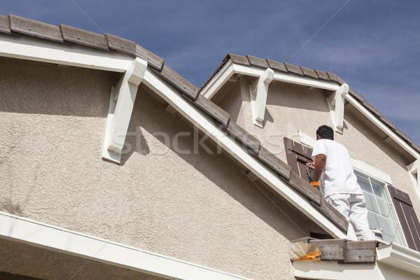 Photo stock: Maison · peintre · peinture · maison