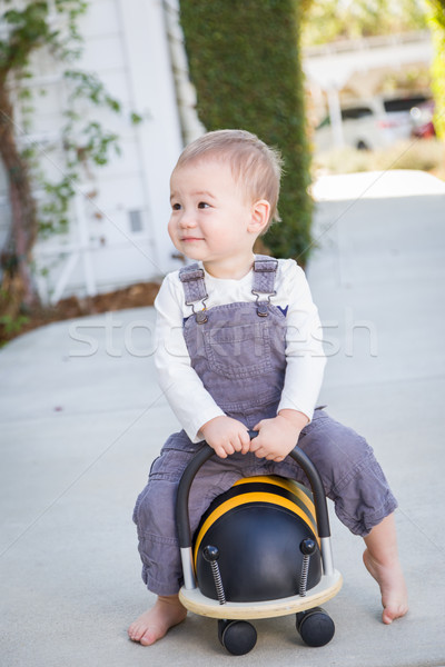 Young Mixed Race Chinese and Caucasian Baby Boy Having Fun Outdo Stock photo © feverpitch