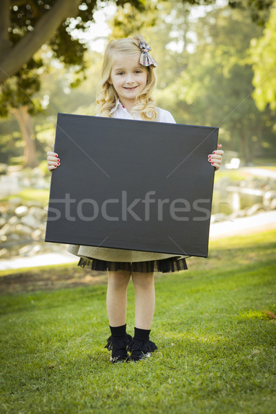 ストックフォト: かわいい · ブロンド · 少女 · 黒