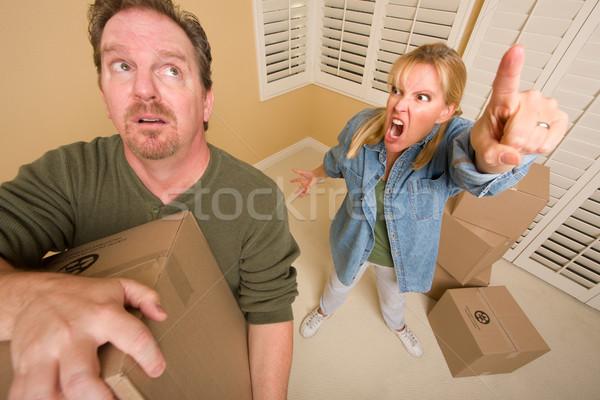Człowiek wymagający żona inny Zdjęcia stock © feverpitch