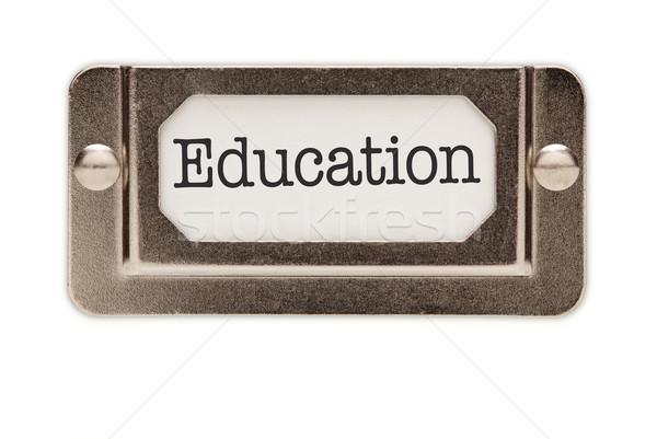 Stock foto: Bildung · Datei · Schublade · Label · isoliert · weiß