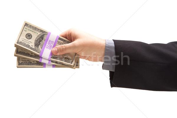 Man Handing Over Hundreds of Dollars Stock photo © feverpitch